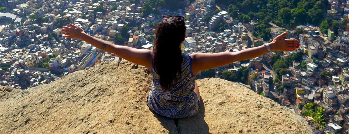 Vrouw alleen op reis door Zuid Amerika
