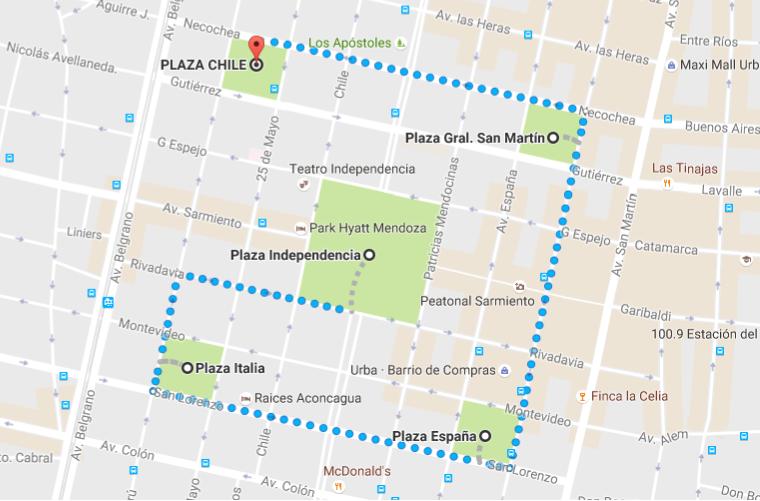 Wandelroute langs de pleinen van Mendoza in Argentinie, Zuid-Amerika