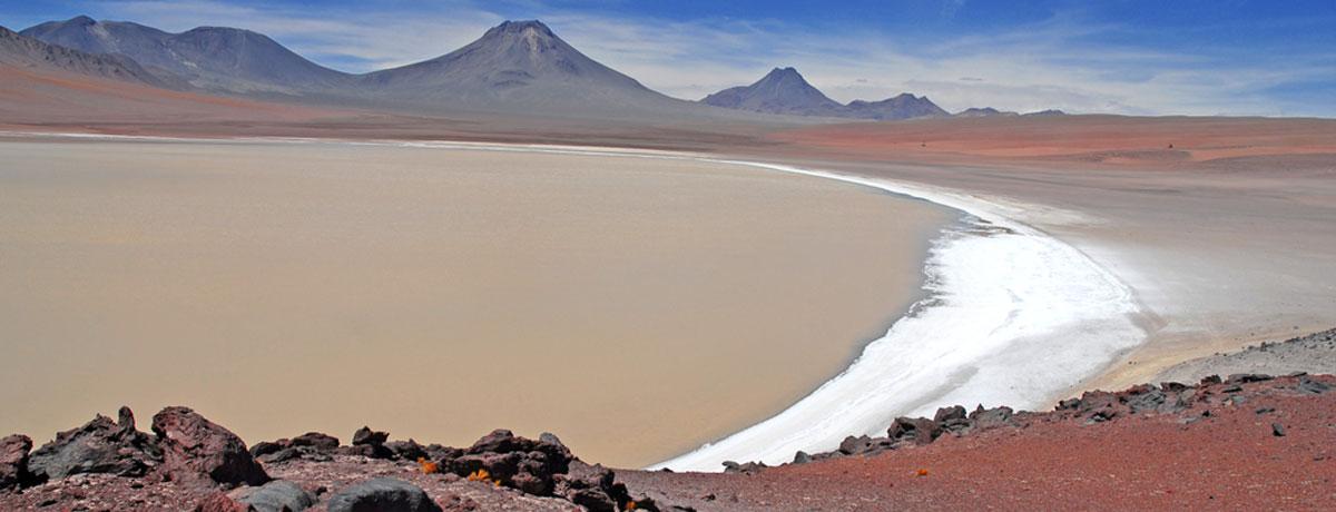 Atacama woestijn gebied in Chili