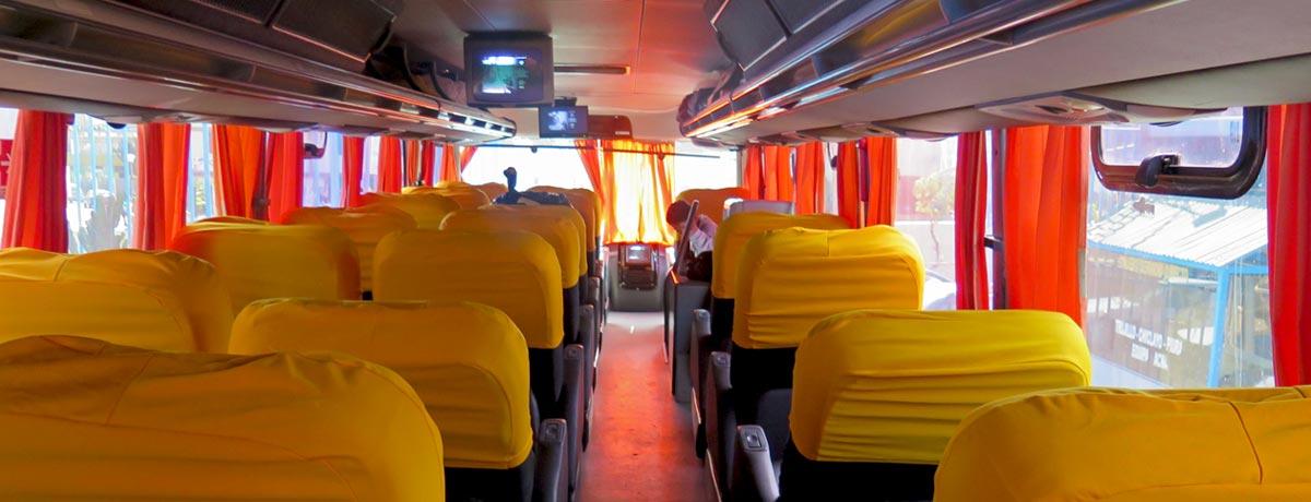 Nachtbussen gebruik je vaak tijdens je backpackreis Zuid-Amerika