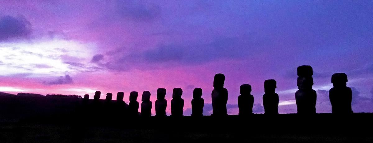 Paaseiland Moai beelden