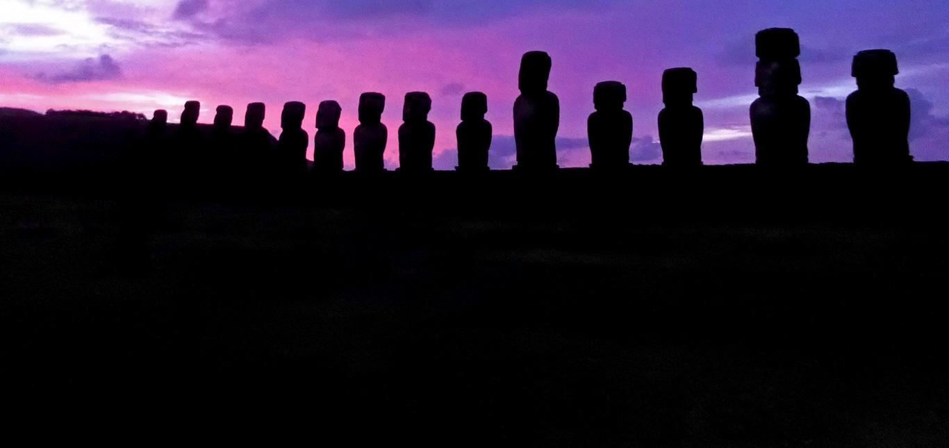 Tongariki Paaseiland zonsopgang