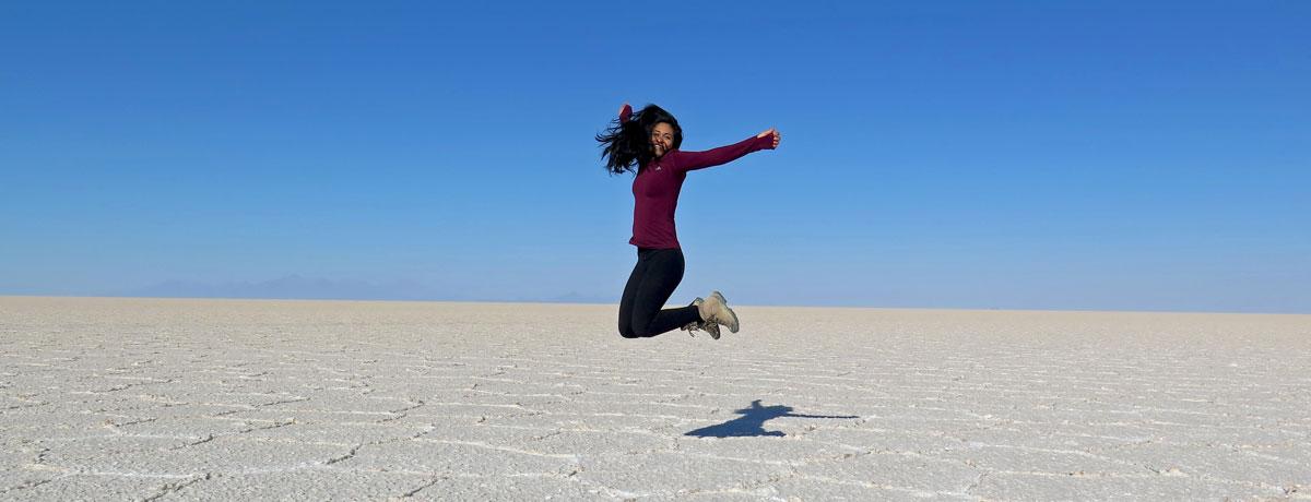 Salar de Uyuni heeft de grootste zoutvlaktes ter wereld en zijn heel indrukwekkend om te zien