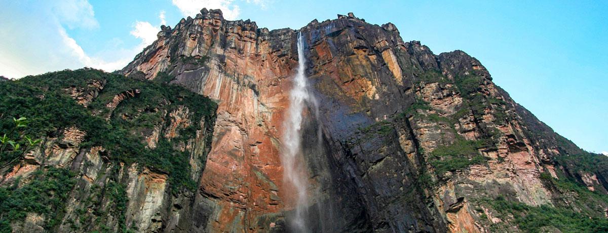 Angel waterval in Venezuela is de hoogste waterval van de wereld