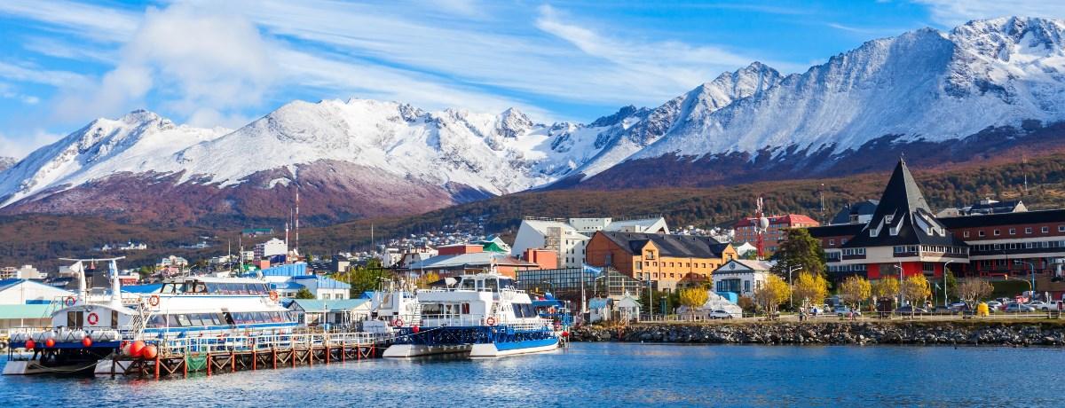 Een reis naar Antartica begint vaak vanaf Ushuaia in Argentinië