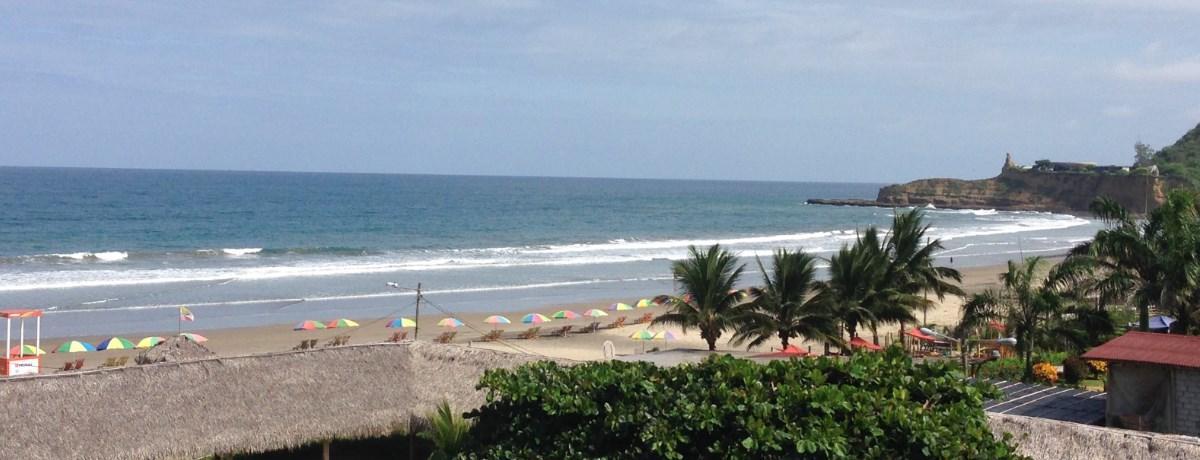 Montanita is een surf dorp aan het strand in Ecuador