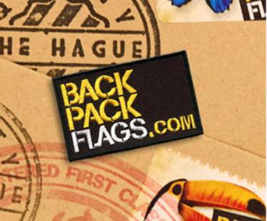 Backpackflags zijn vlaggetjes die je op je backpack kunt stikken o.a. verkrijgbaar op Backpackflags.com