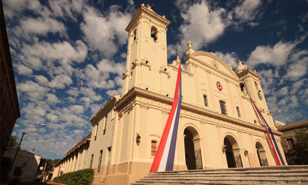 Katholieke Nationale kathedraal in Asuncion